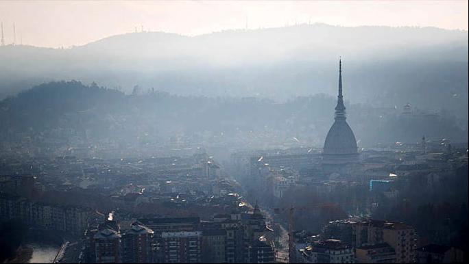 Smog panorama Torino